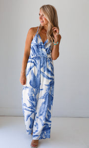 Halley Blue Jumpsuit