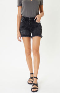 Black Button Fly Shorts