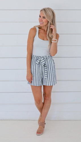 Callie Cotton Stripped Shorts