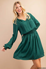 Load image into Gallery viewer, Smocked Hunter Green Dress