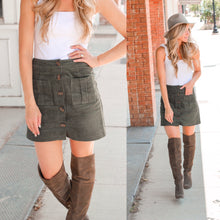 Load image into Gallery viewer, Olive Cord Skirt