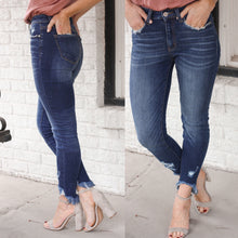 Load image into Gallery viewer, Carly Dark Distressed Denim