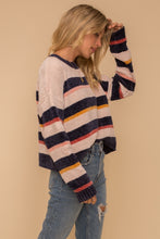 Load image into Gallery viewer, Tate Multi Stripe Sweater