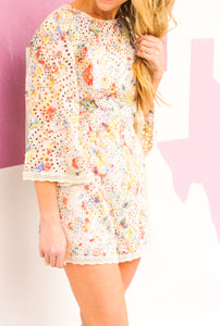Eyelet Candy Romper