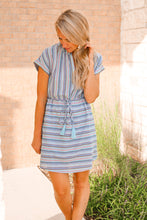 Load image into Gallery viewer, Bailey Blue-Multi Short Sleeve Dress