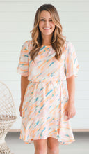 Load image into Gallery viewer, *Blush Flutter Sleeve Dress
