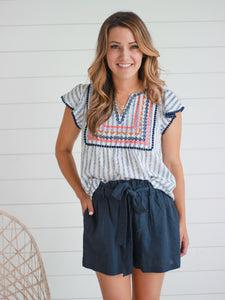 Tessie Embroidered Top