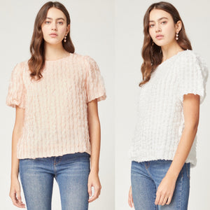 Callie Frill Scoop Neck Top