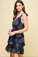 Load image into Gallery viewer, Elizabeth Navy Floral Dress
