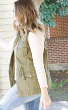 Load image into Gallery viewer, Olive Drape Vest