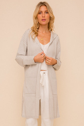 Lady Gray Long Cardigan