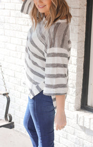 Grace Knit Top-Charcoal