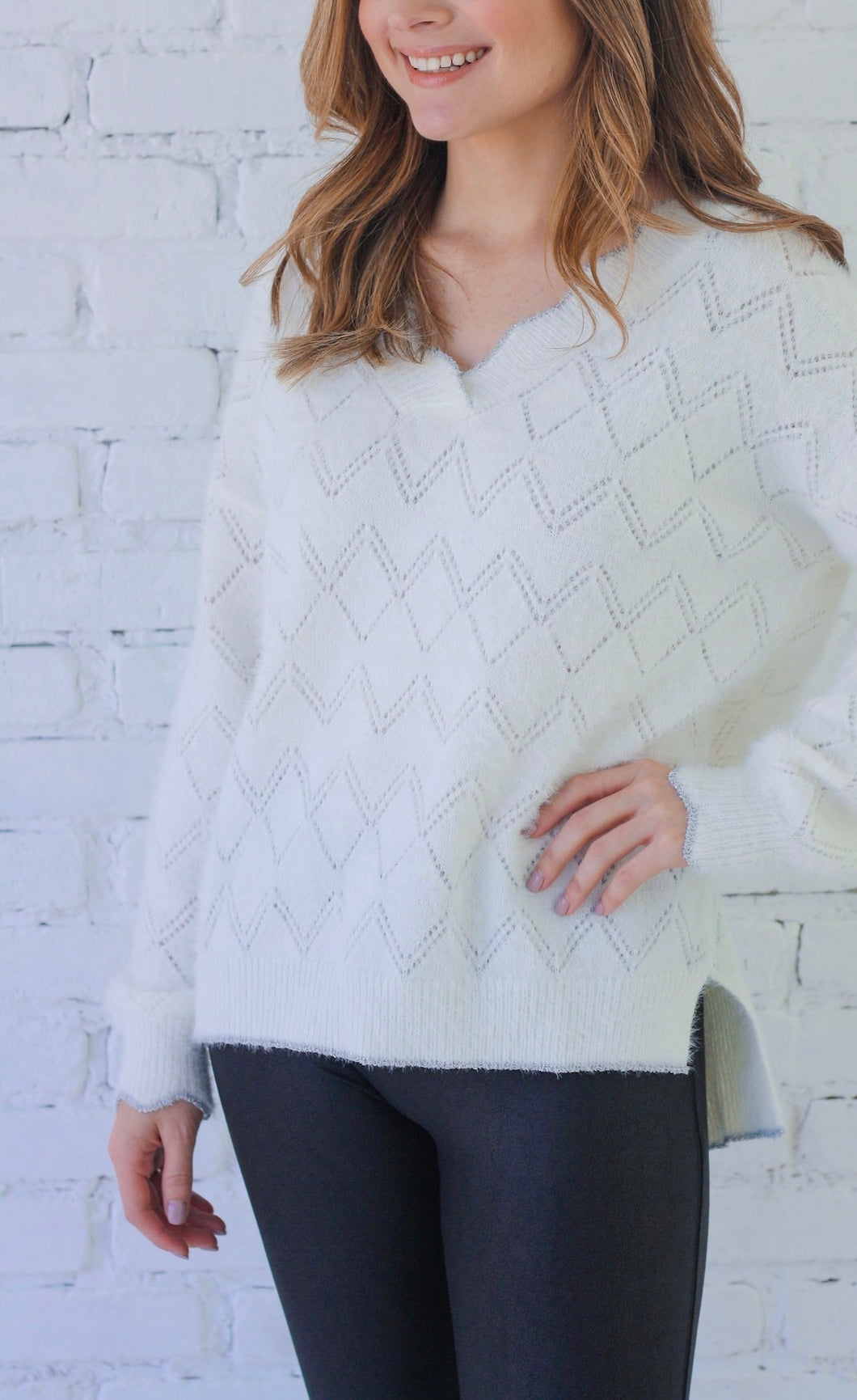 Favor Silver Sweater