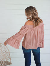 Load image into Gallery viewer, Mocha Off Shoulder Top