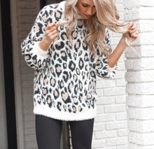 Load image into Gallery viewer, Leopard Mohair Pull Over Sweater