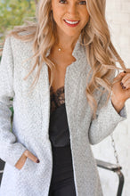 Load image into Gallery viewer, Heather Grey Blazer Jacket