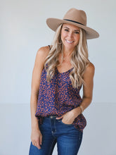 Load image into Gallery viewer, Navy Leopard Cami