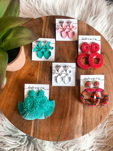 Coral Statement Earrings