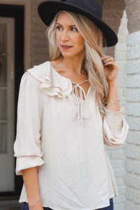 Hillary Blouse-Cream