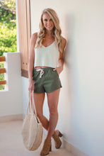 Load image into Gallery viewer, Olive Elastic Shorts