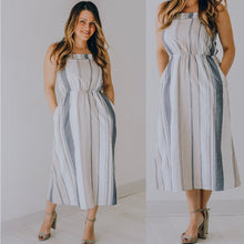 Load image into Gallery viewer, Stripe Midi Dress