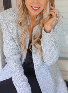 Heather Grey Blazer Jacket