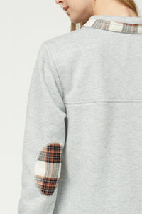 Hillary Plaid Pullover Grey