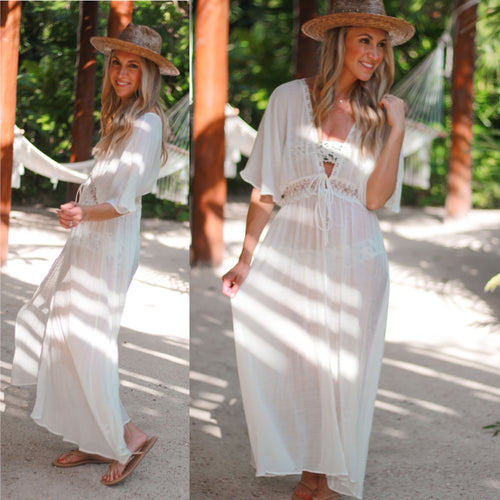 Kenna Lace Coverup-White