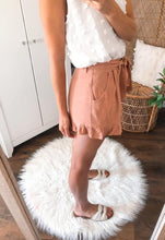 Load image into Gallery viewer, Terra Cotta Linen Shorts