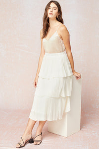 Ivory Tiered Skirt