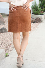 Load image into Gallery viewer, Callie Cognac Cord Skirt