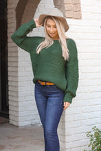 Load image into Gallery viewer, Chunky Hunter Green Sweater