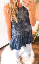Load image into Gallery viewer, Cotton Slub Navy Tank