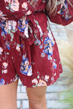 Load image into Gallery viewer, Burgundy Birdie Romper