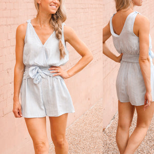 Stormy Blue Romper