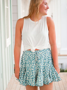 Sally Floral Print Skirt