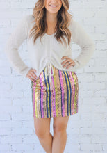 Load image into Gallery viewer, Jenni Sequin Mini Skirt