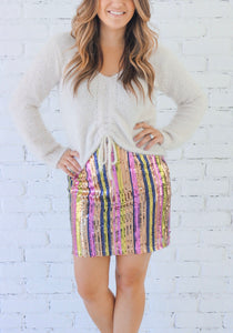 Jenni Sequin Mini Skirt