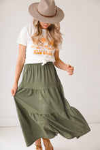 Load image into Gallery viewer, Tiered Olive Skirt