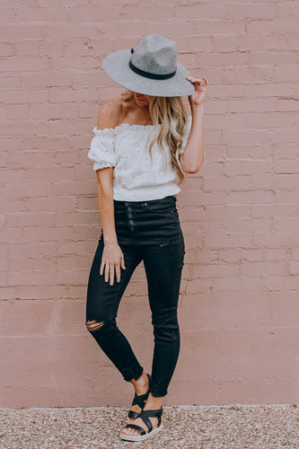 High Waist Black Denim