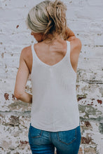 Load image into Gallery viewer, Whitney Knit Tank-White