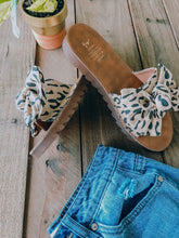 Load image into Gallery viewer, Leopard Sandals-Tan