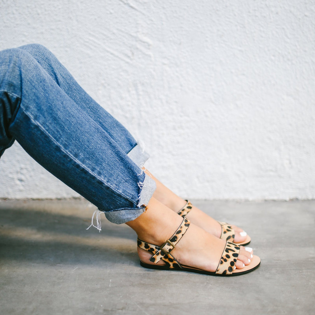 The Simple Sandal in Leopard