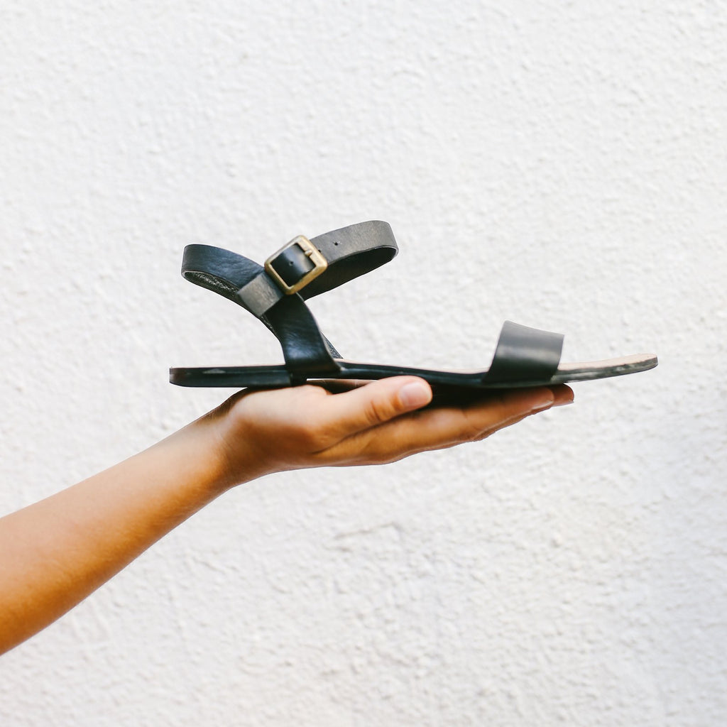 The Simple Sandal in Black