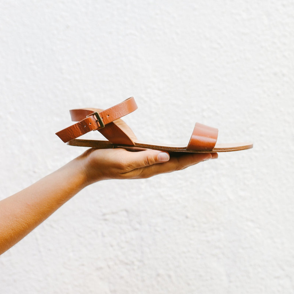 The Simple Sandal in Tan