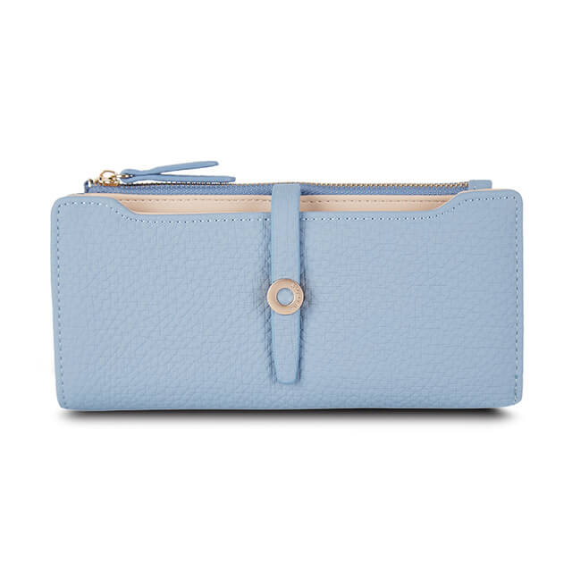 Women's textured leather wallet. Available in 6 gorgeous colors. Atlas Accessory