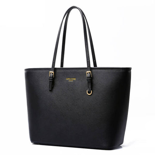 Medium size tote bag with elegant skinny straps.
