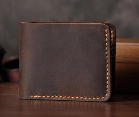 Vintage genuine leather wallet with premium quality stitching. Available in traditional horizontal or vertical book style closure. Visit AtlasAccessory.com for more fashionable wallets and accessories for less than you think!