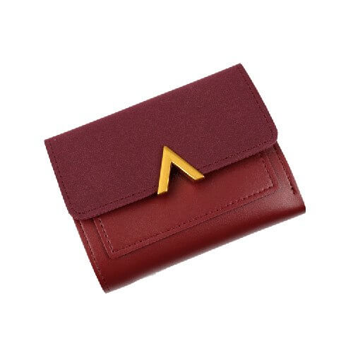 Petite women's wallet with cute metal details and matte leather accent. Choose from 6 lovely colors.
