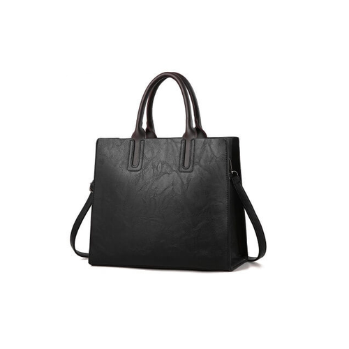 classic tote with a modern boxy design.